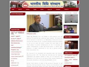The Indian Law Institute's Website Screenshot