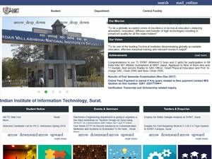 Sardar Vallabhbhai National Institute of Technology, Surat's Website Screenshot