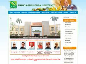 Anand Agricultural University's Website Screenshot