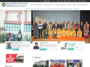 Chaudhary Devi Lal University's Website Screenshot