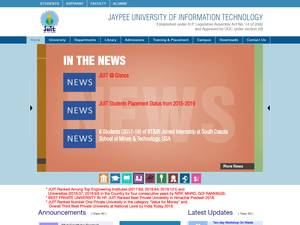 Jaypee University of Information Technology's Website Screenshot