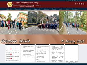 National Institute of Technology, Hamirpur Screenshot