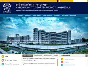 National Institute of Technology, Jamshedpur's Website Screenshot