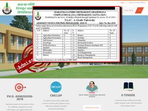 Mahatma Gandhi Chitrakoot Gramoday Vishwavidyalaya's Website Screenshot