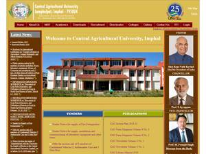 Central Agricultural University's Website Screenshot