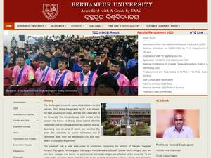 Berhampur University's Website Screenshot