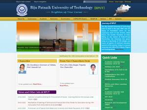 Biju Patnaik University of Technology's Website Screenshot