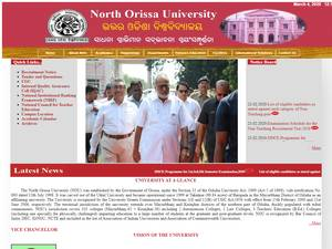 North Orissa University's Website Screenshot