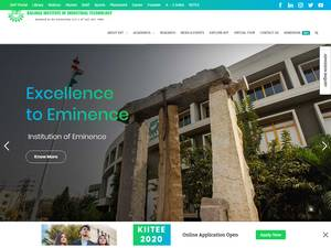 KIIT University's Website Screenshot