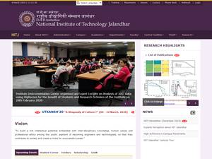 Dr. B R Ambedkar National Institute of Technology Jalandhar's Website Screenshot