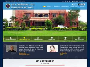 University of Kota's Website Screenshot
