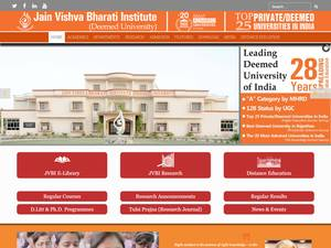Jain Vishva Bharati Institute's Website Screenshot