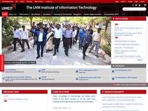 The LNM Institute of Information Technology's Website Screenshot