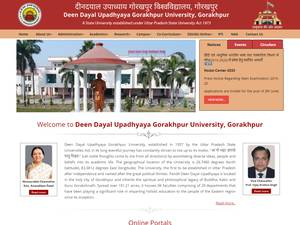 Deen Dayal Upadhyay Gorakhpur University's Website Screenshot