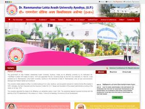 Dr. Ram Manohar Lohia Avadh University's Website Screenshot