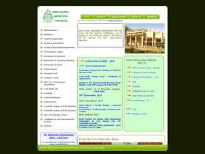 Bidhan Chandra Krishi Vishwavidyalaya's Website Screenshot