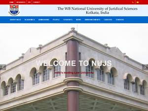 The West Bengal National University of Juridical Sciences's Website Screenshot