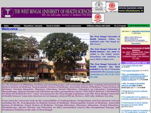 West Bengal University of Health Sciences Screenshot