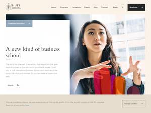 Hult International Business School's Website Screenshot