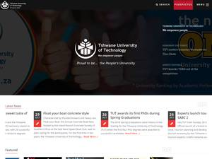Tshwane University of Technology's Website Screenshot