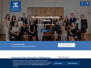 The University of Melbourne's Website Screenshot