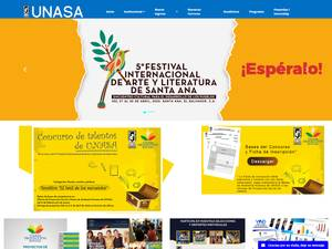 Universidad Autónoma de Santa Ana's Website Screenshot