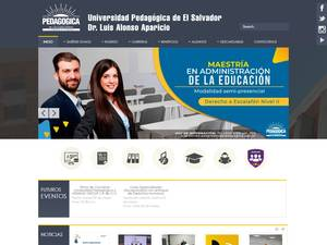 Universidad Pedagógica de El Salvador Screenshot