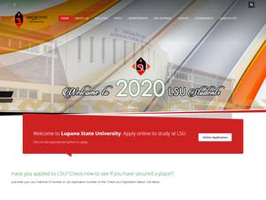 Lupane State University's Website Screenshot