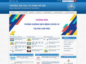Hanoi National University of Education's Website Screenshot