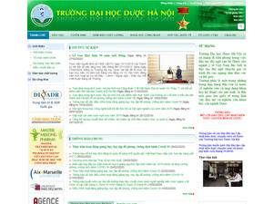 Hanoi University of Pharmacy's Website Screenshot