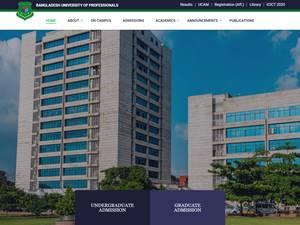 Bangladesh University of Professionals's Website Screenshot