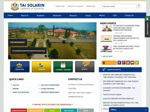 Tai Solarin University of Education Screenshot