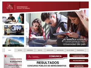 Technical University of Ambato Screenshot