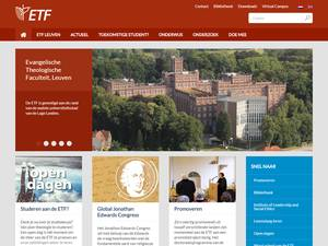 Evangelische Theologische Faculteit, Leuven's Website Screenshot