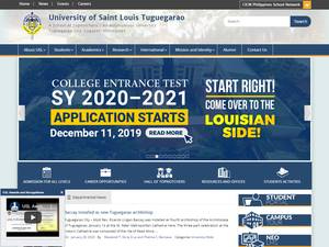 University of Saint Louis's Website Screenshot