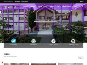 Universitas Tribhuwana Tungga Dewi's Website Screenshot