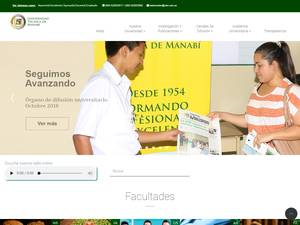 Universidad Técnica de Manabí Screenshot