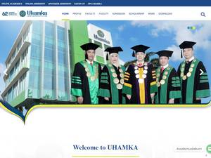 Universitas Muhammadiyah Prof. Dr. Hamka's Website Screenshot