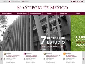 El Colegio de México's Website Screenshot