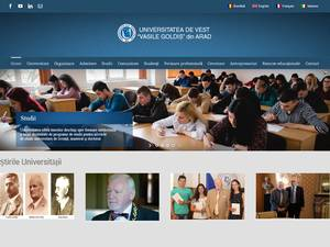 Universitatea de Vest Vasile Goldis Arad's Website Screenshot