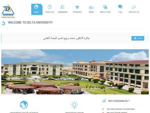 Delta University for Science and Technology's Website Screenshot