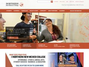 Northern New Mexico College's Website Screenshot