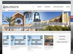 University of Technology's Website Screenshot