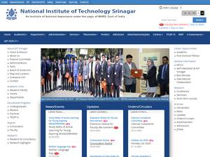National Institute of Technology, Srinagar's Website Screenshot