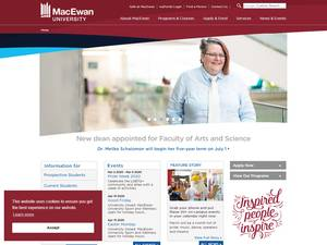 MacEwan University's Website Screenshot