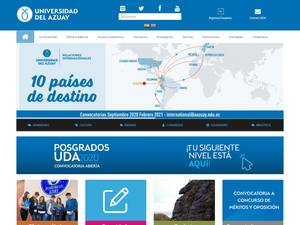 Universidad del Azuay's Website Screenshot