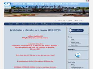 École Nationale Supérieure de Management's Website Screenshot