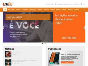 Universidade Óscar Ribas's Website Screenshot