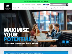 The University of Newcastle's Website Screenshot