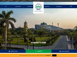 Misr University for Science and Technology's Website Screenshot
